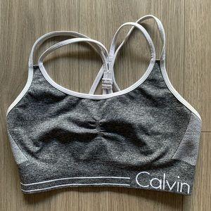 Calvin Klein Performance Heathered sports bra